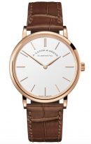 Мужские классические часы Lange Sohne Saxonia 201 033 в розовом золоте, часы и минуты, светлый циферблат, коричневая кожа кроко.