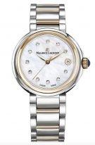 Женские наручные часы Maurice Lacroix Fiaba -FA1007_PVP13_170_1 с датой в стальном корпусе с PVD покрытием, светлом перламутровом циферблате бриллиантовые индексы, тонкие часовые метки и стрелки, стальной браслет с PVD покрытием.