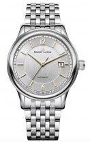 Мужские наручные часы Maurice Lacroix Les Classiques -LC6098_SS002_121_1 с датой в стальном корпусе, на серебристом циферблате тонкие часовые метки и стрелки, стальной браслет.