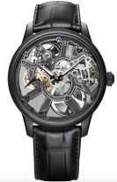 Мужские наручные часы Maurice Lacroix Masterpiece -MP7228_PVB01_005_1 в черненном корпусе, на скелетированном циферблате родиевые люминесцентные стрелки, черный кроко.