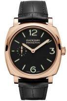 Мужские часы Panerai Radiomir-PAM00575 в корпусе из розового золота, на черном циферблате люминесцентные цифры, метки и стрелки, черная кожа кроко.
