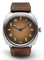 Мужские наручные часы Panerai Radiomir PAM00931 в стальном корпусе, коричневый калифорнийский циферблат с римскими и арабскими цифрами, телячья кожа