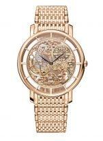 Ультратонкие классические часы Patek Philippe Complications 5180-1R-001 в розовом золоте, скелетонизированный механизм с декоративной отделкой, браслет из розового золота.