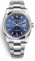 Женские/мужские часы Rolex Datejust- 116 200 в стальном корпусе с синим циферблатом на браслете Oyster