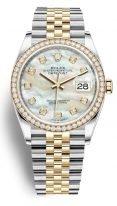 Женские часы Rolex Datejust- 126 283RBR на биколорном браслете (сталь и желтое золото) с перламутровым циферблатом и браслетом Jubilee