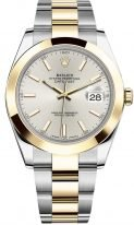 Мужские/женские часы Rolex Datejust 126 303 в биколорном корпусе (сталь и желтое золото), серебристый циферблат, на биколорном браслете Oyster.