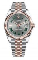 Мужские/женские часы Rolex Datejust 126 331 биколорный корпус (сталь и розовое золото), серый циферблат с римскими цифрами, на биколорном браслете Jubilee.