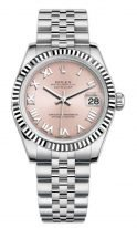 Женские часы Rolex Datejust 178 240 pink в стальном корпусе с бриллиантовым безелем из белого золота, розовый циферблат, на стальном браслете Jubilee.