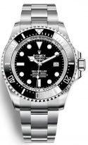 Мужские спортивные часы Rolex Deepsea- 126 660 в стальном корпусе с черным циферблатом на стальном браслете Oyster.