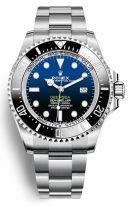 Мужские спортивные часы Rolex Deepsea- 126 660 blue в стальном корпусе с синим циферблатом на браслете Oyster.