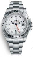 Мужские спортивные часы Rolex Explorer- 216 570 в стальном корпусе на браслете Oyster. со временем второго часового пояса.