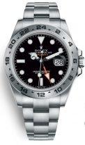 Мужские/женские спортивные часы Rolex Explorer- 216 570 black в стальном корпусе на стальном браслете Oyster