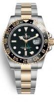 Мужские/женские часы Rolex GMT-Master II-116 713LN в биколорном корпусе (сталь/желтое золото) со временем второго часового пояса на браслете Oyster.