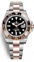 Мужские/женские часы Rolex GMT-Master II-126 711 CHNR в биколорном корпусе (сталь и розовое золото) со временем второго часового пояса на браслете Oyster