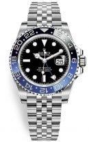 Мужские/женские спортивные часы Rolex GMT Master II 116 710 BLNR в стальном корпусе с функцией второго часового пояса, черный циферблат, на браслете Jubilee.