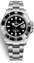 Мужские спортивные часы Rolex Sea-Dweller- 126 600 в стальном корпусе на браслете Oyster.