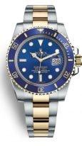 Мужские/женские наручные часы Rolex Submarine- 116 613LB в биколорном корпусе (сталь/желтое золото) с синим циферблатом на браслете Oyster.