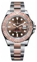Мужские/женские спортивные часы Rolex Yacht Master 126 621 в биколорном корпусе, шоколадный циферблат, биколорный браслет Oyster.