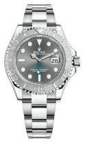 Мужские/женские спортивные часы Rolex Yacht Master 126 622 в стальном корпусе с платиновым безелем, серый циферблат, на стальном браслете Oyster.