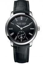 Мужские наручные часы Ulysse Nardin Classico-3203-136-2/E2 с датой в стальном корпусе, на черном циферблате родиевые римские цифры и стрелки, черная кожа кроко.