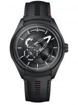 Мужские наручные часы Ulysse Nardin Freak-2303-270.1/BLACK авангардный турбийон в черном титановом корпусе, на черном циферблате центральный мост в качестве минутной стрелки, а колеса показывают часы, черный телячий ремешок.