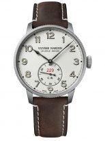 Мужские наручные часы Ulysse Nardin Marine-1183-320LE/60 в стальном корпусе, на светлом циферблате очерченные арабские цифры, коричневый телячий ремешок.