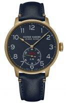 Мужские наручные часы Ulysse Nardin Marine-1187-320LE/63 в бронзовом корпусе, на синем циферблате люминесцентные арабские цифры, бронзовые стрелки, синий телячий ремешок.