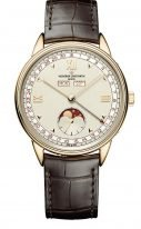 Мужские классические часы Vacheron Constantin Historiques-3100V_000R_B359 в розовом золоте, годовой календарь с фазами Луны, светлый циферблат, коричневый кроко ремешок, лимитированная серия.