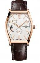 Мужские классические часы Vacheron Constantin Malte-7000M_000R_B109 в розовом золоте, с запасом хода и фазами Луны, светлый циферблат, коричневый ремешок кроко