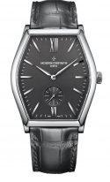 Мужские классические часы Vacheron Constantin Malte-82230_000G_9185 в белом золоте с серым циферблатом, серый ремешок кроко.