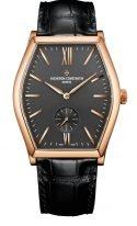 """Мужские классические часы Vacheron Constantin Malte-82230_000R_9716 в розовом золоте, часы в форме """"бочонка"""", темный циферблат, черная кроко."""