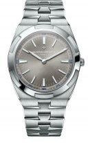 Мужские спортивные часы Vacheron Constantin Overseas-2000V_120G_B122 в белом золоте, ультратонкие, с грифельным циферблатом, браслет из белого золота и дополнительно кожа кроко и каучук.