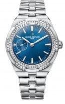 Женские классические часы Vacheron Constantin Overseas-2305V_100A_B170 стальной корпус, маленькая секундная стрелка, синий циферблат, в наборе три браслета: кожа кроко, каучук, стальной браслет.