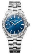 Женские спортивные часы Vacheron Constantin Overseas 2305V_100A_B170 в стальном корпусе, с маленькой секундной стрелкой, синий циферблат, стальной браслет.