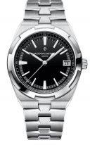 Мужские спортивные часы Vacheron Constantin Overseas 4500V_110A_B483 в стальном браслете, с датой, черный циферблат, три браслета в наборе: кожа, каучук, стальной браслет.