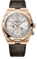 Мужские спортивные часы Vacheron Constantin Overseas-7900V_000R_B336 в розовом золоте со временем второго часового пояса, индикатором день/ночь, серебристый циферблат, в наборе три браслета: кожа, каучук, стальной браслет.