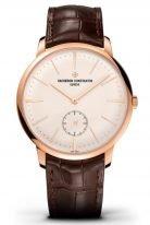 Мужские классические часы Vacheron Constantin Patrimony 1110U_000R_B085 в розовом золоте, ультратонкие, с маленькой секундной стрелкой, светлым циферблатом, коричневой кожей кроко.