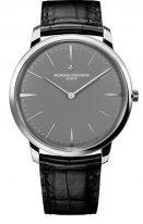 Мужские классические часы Vacheron Constantin Patrimony-81180_000P_9539 ультратонкие в платиновом корпусе, с серым циферблатом, черная кожа кроко.