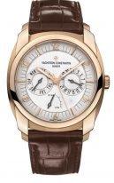 Мужские классические часы Vacheron Constantin Quai De L'ile-85050_000R_I0P29 в розовом золоте, функции: дата, день недели, запас хода, серебристый циферблат, в наборе два ремешка: кроко и каучук.