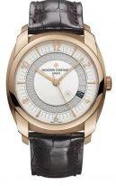 Мужские классические часы Vacheron Constantin Quai De L'ile-86050_000R_I0P29 в розовом золоте, дата и секунды, серебристый циферблат,в наборе два ремешка: кожа и каучук.