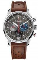 Мужские классические часы Zenith Chronomaster-03_2046_400_25_C771 хронограф в стальном корпусе с антрацитовым циферблатом, коричневой кожей.