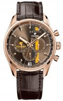 Мужские классические часы Zenith Chronomaster-18_2041_400_76_C795 хронограф в розовом золоте, коричневый гильошированный циферблат, коричневая кожа кроко с подкладкой из каучука.