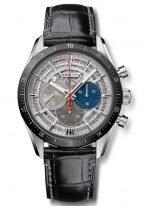 Мужские наручные часы Zenith Chronomaster 95 3001 3600 69 C817 хронограф в титановом корпусе с керамическим рантом, скелетированный циферблат, черная кожа кроко.