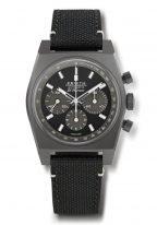 Мужские спортивные часы Zenith Chronomaster 97 T384 4061 21 C822 хронограф в титановом корпусе, черный матовый циферблат, текстильный черный ремешок.