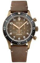 Мужские наручные часы Zenith Pilot-29_2240_405_18_C80 хронограф в бронзовом корпусе, бронзовый циферблат с люминесцентом, коричневый нубуковый ремешок.