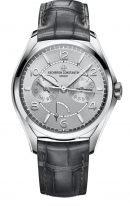 Мужские классические часы Vacheron Constantin Fiftysix-4400E_000A_B437 в стальном корпусе, сдатой и днем недели и запасом хода, светлый циферблат, серая кроко.