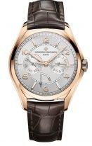 Мужские классические часы Vacheron Constantin Fiftysix 4400E_000R_B436 в розовом золоте, дата с днем недели и запасом хода, светлый циферблат, ремешок кроко.