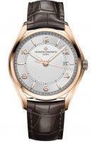 Мужские классические часы Vacheron Constantin Fiftysix 4600E_000R_B441 в розовом золоте, дата, светлый циферблат, ремешок кроко.