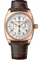 Мужские классические часы Vacheron Constantin Harmony 5300S_000R_B124 в розовом золоте, хронограф с запасом хода, светлый циферблат, ремешок кроко.
