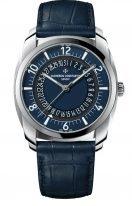 Мужские классические часы 4500S_000A_B364 в стальном корпусе, дата, синий циферблат, в наборе два ремешка: кожа кроко и каучук.